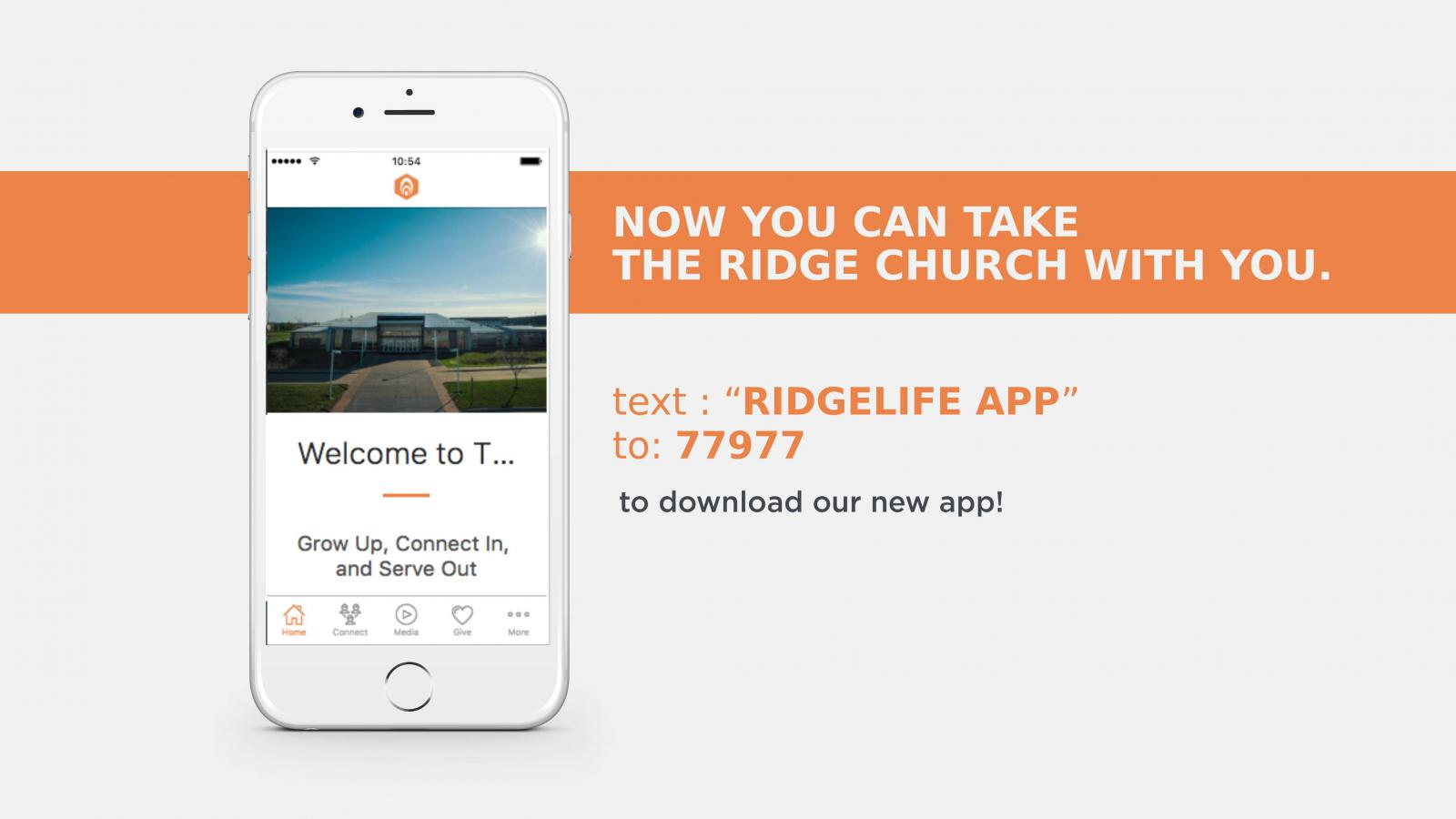 Now You Can Take The Ridge With You Download Our New App The Ridge Prairie Ridge Church