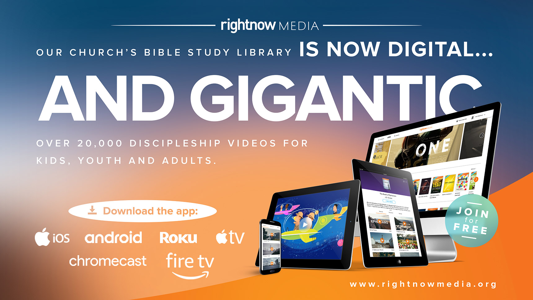 Sign up for RightNow Media!