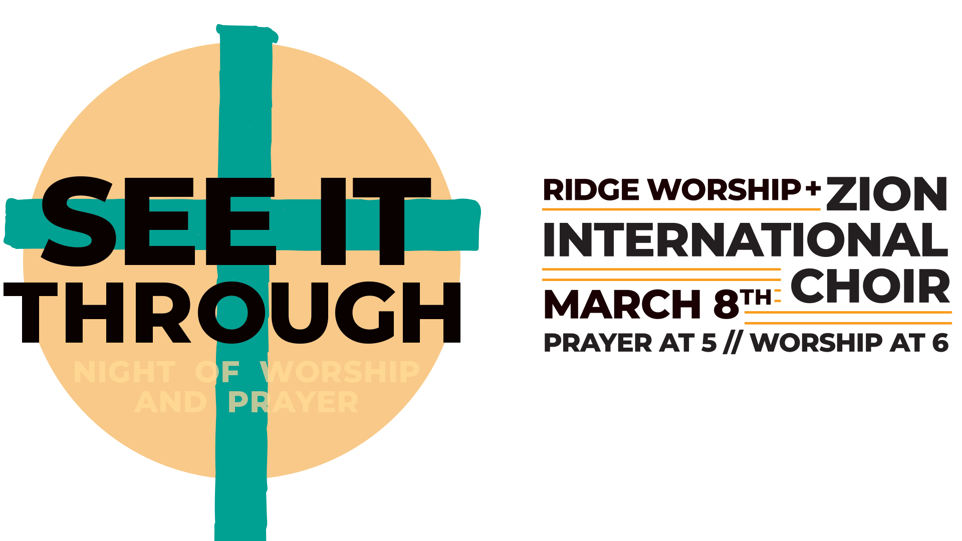 See It Through – Night of Worship, March 8, 6pm