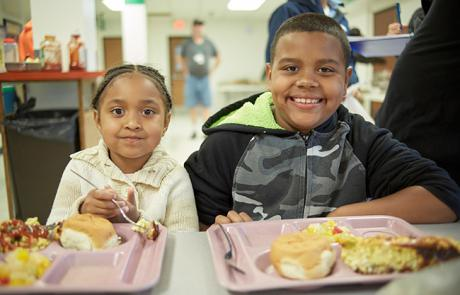 Meal served to kids